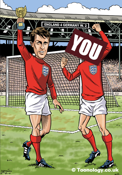 1966: They think it's... Sir Geoff Hurst makes history by becoming the first man to score a hat trick in a FIFA World Final